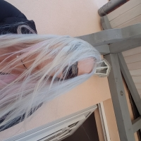 Black Lady in blonde